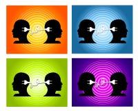 Het delen van de Achtergronden van het Groepswerk van Ideeën vector illustratie
