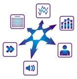 Het delen van het document Stock Foto