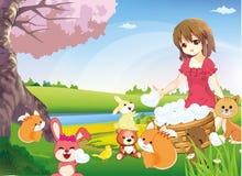 Het delen van Ware Liefde aan de wereld (versie 2) Stock Fotografie