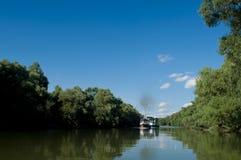 Het deltalandschap van Donau Stock Fotografie