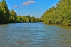 Het deltalandschap van Donau stock afbeeldingen