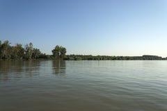 Het deltalandschap van Donau Stock Foto