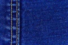 Het denim en de naad van jeans Royalty-vrije Stock Afbeeldingen