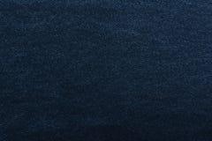 Het denim van de textuur Dicht weefsel textiel Achtergrond Donkerblauwe natuurlijke stof royalty-vrije stock afbeelding