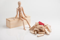 Het denken aan bouw. Stock Fotografie