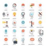 Het denken en Brain Activity stock illustratie