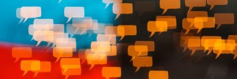 Het denken en het spreken verschillend zijn vrijheid van toespraak Stock Afbeeldingen