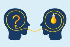 Het denken en probleem het oplossen concept vector illustratie