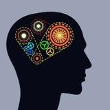 Het denken mechanismen Het beeld van het concept royalty-vrije illustratie
