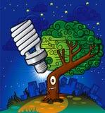 Het denken van de boom aan een ideeecologie Royalty-vrije Stock Foto's