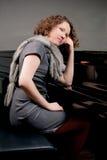 Het denken van de pianist Royalty-vrije Stock Foto