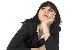 Het Denken van de vrouw Stock Fotografie