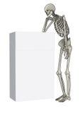Het denken van het skelet royalty-vrije illustratie