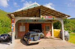 Het depot van de bierdistributie op bequia Stock Foto's
