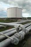 Het depot van de brandstof stock afbeeldingen