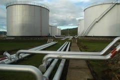 Het depot van de brandstof stock foto