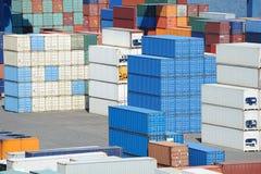 Het depot van de container stock foto