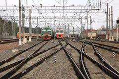 Het depot van de spoorweg Royalty-vrije Stock Foto