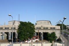 Het depot van de tram royalty-vrije stock afbeelding