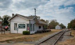 Het Depot van de vlaktestrein royalty-vrije stock foto's