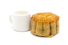 Het dessert Chinese stijl en thee van de maancake Royalty-vrije Stock Foto