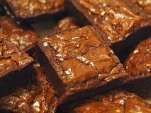 Het dessert van Brownies Stock Foto