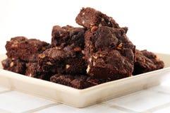 Het dessert van Brownies Royalty-vrije Stock Afbeeldingen