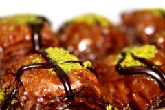 Het Dessert van chocoladebaklava royalty-vrije stock afbeelding