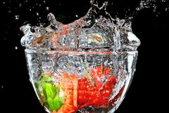 Het dessert van de aardbei. Royalty-vrije Stock Afbeelding