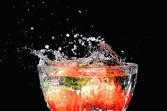 Het dessert van de aardbei. Stock Afbeelding