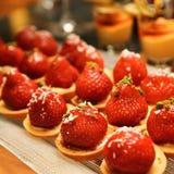 Het dessert van de aardbei Stock Foto