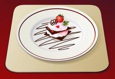 Het dessert van de aardbei no.2 stock illustratie