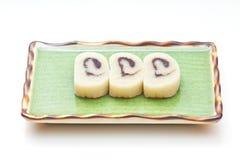 Het dessert van de banaan Stock Foto's