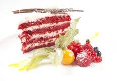 Het dessert van de bessencake stock fotografie