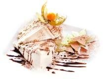Het Dessert van de Cake van het fruit stock foto