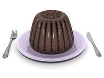 Het dessert van de chocolade Stock Foto's