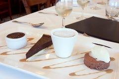 Het dessert van de chocolade stock foto