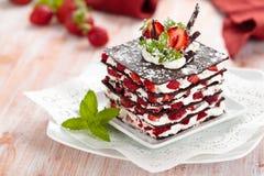 Het dessert van de chocolade royalty-vrije stock fotografie