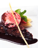 Het Dessert van de chocolade Stock Afbeelding