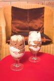Het dessert van de chocolade in sh koffie Royalty-vrije Stock Foto