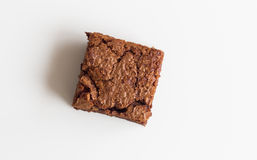 Het dessert van de chocoladebrownie Royalty-vrije Stock Foto