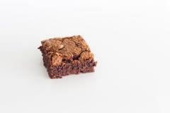 Het dessert van de chocoladebrownie Stock Foto's