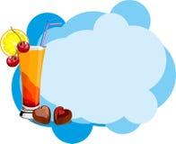 Het dessert van de cocktail vector illustratie
