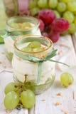 Het dessert van de druif Stock Foto's