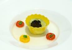 Het dessert van de fruitmousse royalty-vrije stock afbeeldingen