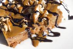 Het dessert van de karamel Stock Foto