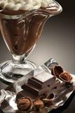 Het dessert van de koffie met slagroom Royalty-vrije Stock Foto