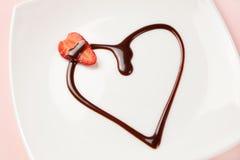 Het dessert van de liefde Royalty-vrije Stock Afbeeldingen