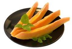 Het dessert van de papaja royalty-vrije stock foto's