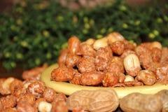 Het dessert van de pindakaramel typisch van Mexicaanse keuken stock afbeeldingen